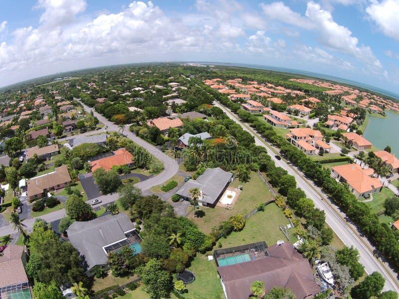Widok z lotu ptaka Miami stwarza ognisko domowe zdjęcia stock