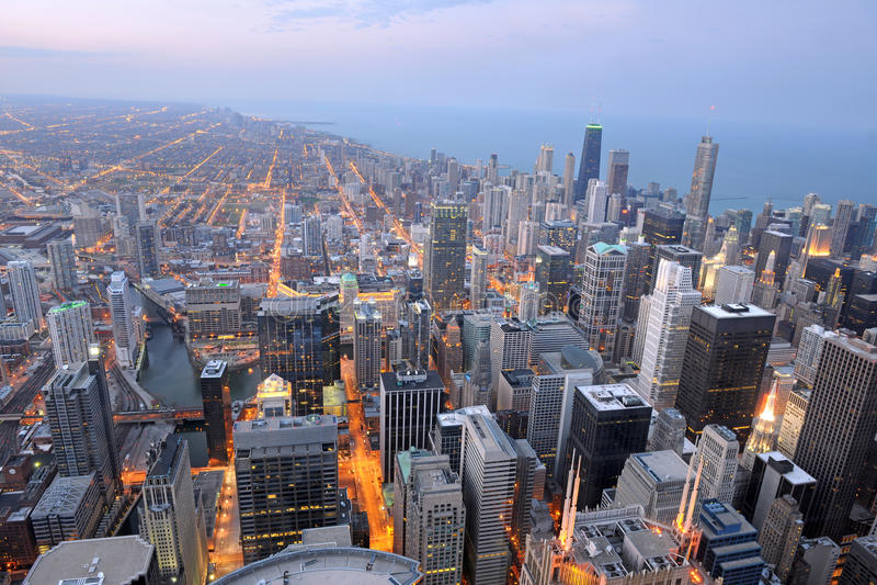 Widok Z Lotu Ptaka Miasto Chicago obrazy stock