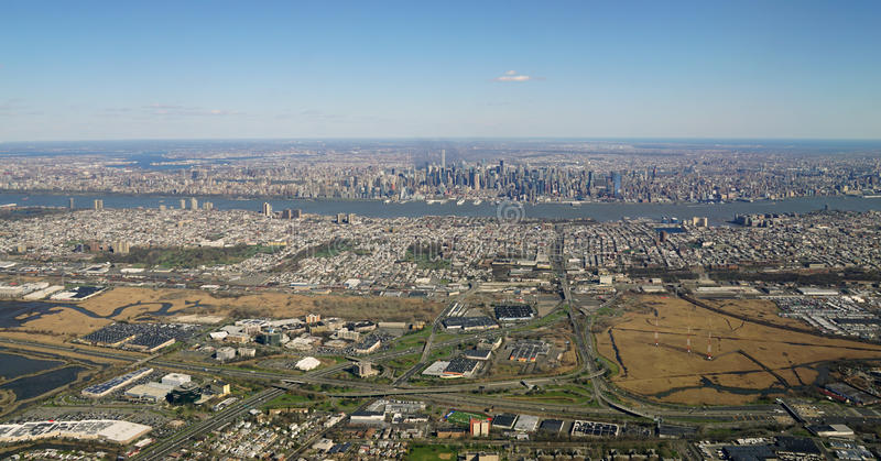 Widok z lotu ptaka Miasto Nowy Jork linia horyzontu obrazy royalty free