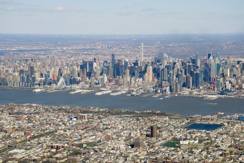 Widok z lotu ptaka Miasto Nowy Jork linia horyzontu zdjęcie stock