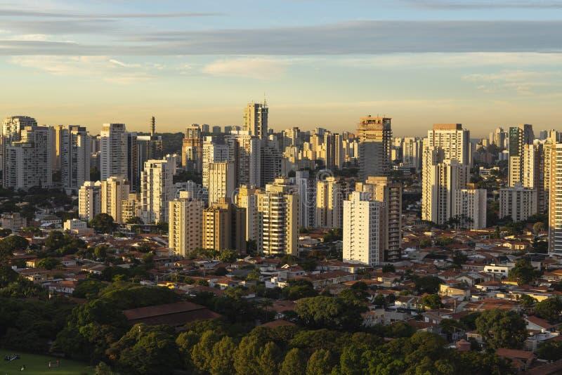 Widok z lotu ptaka miasto sao Paulo fotografia stock