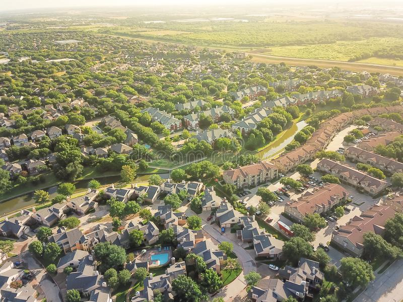 Widok z lotu ptaka miastowy bezładne skupisko w forcie Warty teren obraz stock