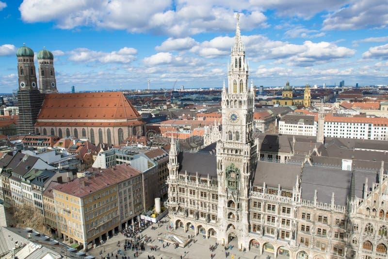 Widok z lotu ptaka Monachium fotografia stock