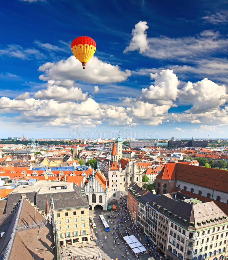 Widok z lotu ptaka Monachium miasta cente obraz royalty free