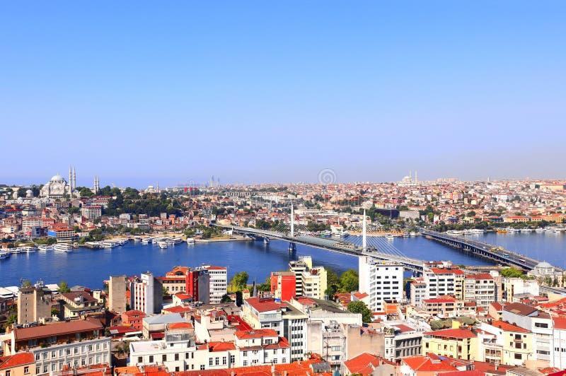 Widok z lotu ptaka na Istanbuł i Bosphorus, Turcja zdjęcia stock