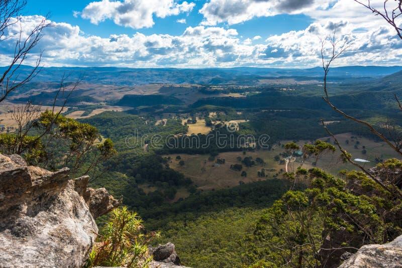 Widok z lotu ptaka na pięknym wieś krajobrazie od góry Blackh zdjęcie stock