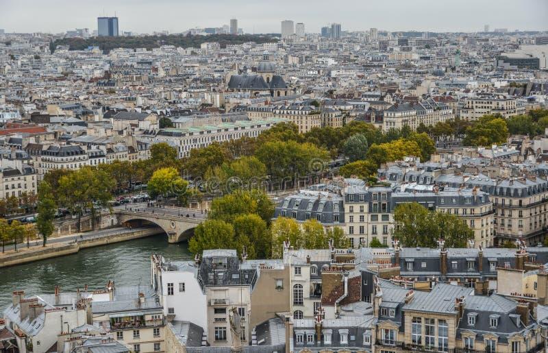 Widok z lotu ptaka na Rzecznym wontonie z mostami obrazy royalty free