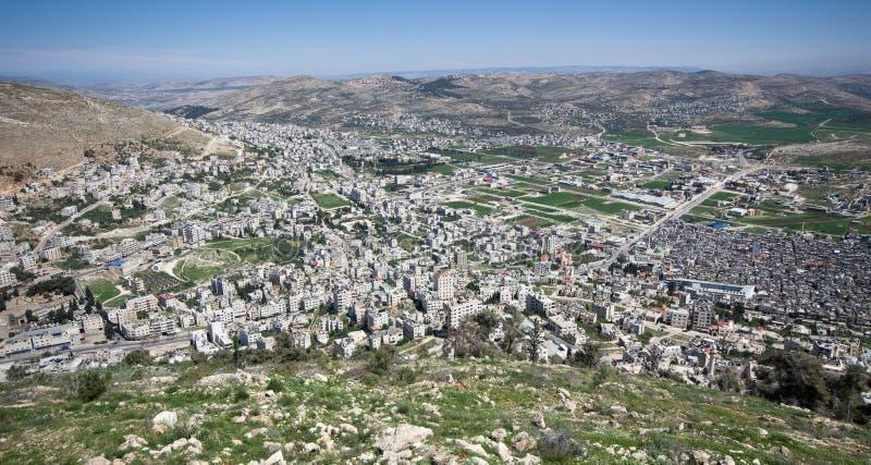 Widok z lotu ptaka Nablus fotografia royalty free