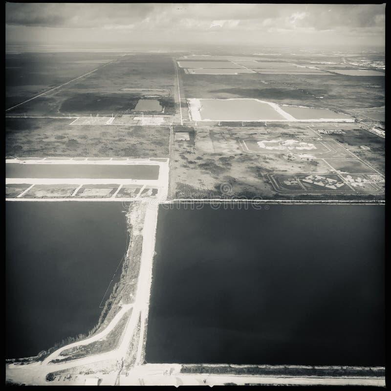 Widok z lotu ptaka nad Południowym Floryda obrazy stock