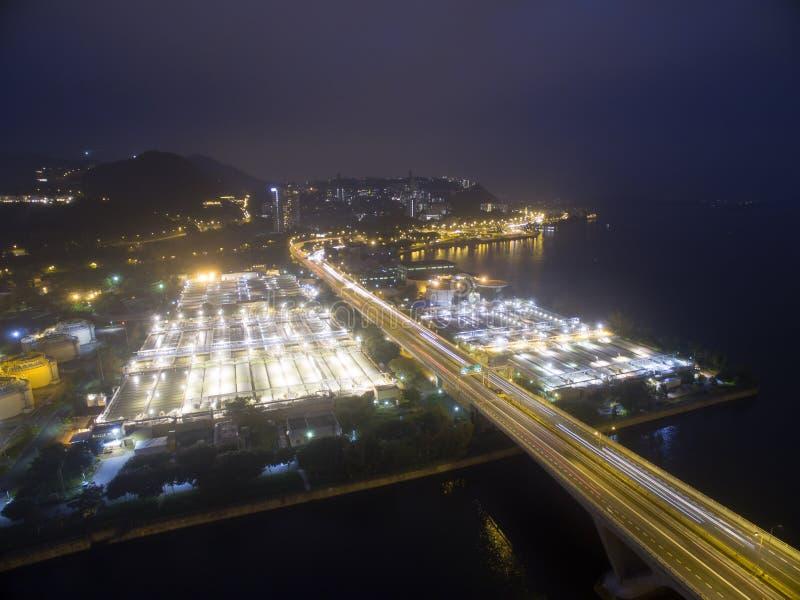 Widok z lotu ptaka nad Shatin w Hong Kong fotografia stock