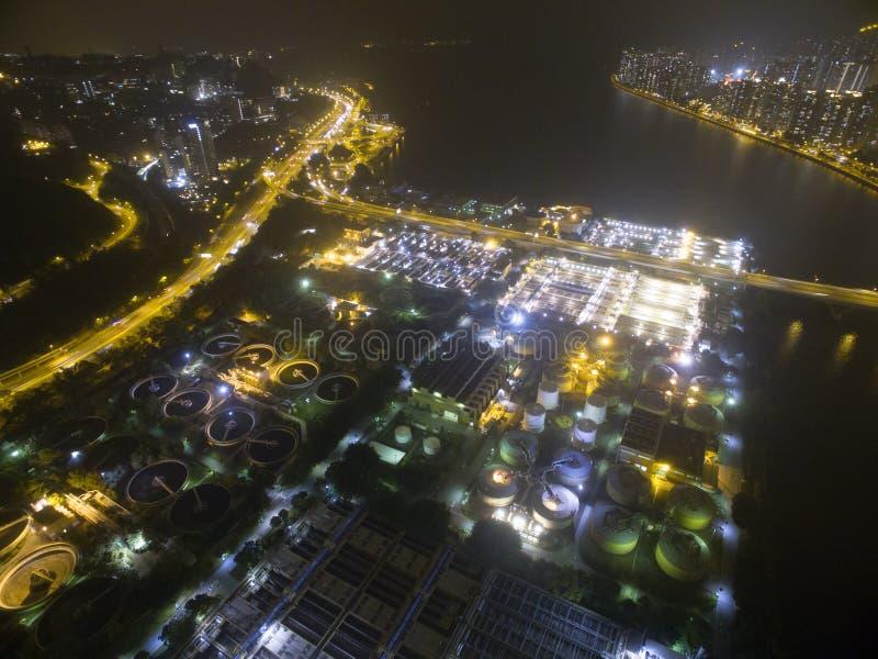Widok z lotu ptaka nad Shatin w Hong Kong zdjęcia royalty free