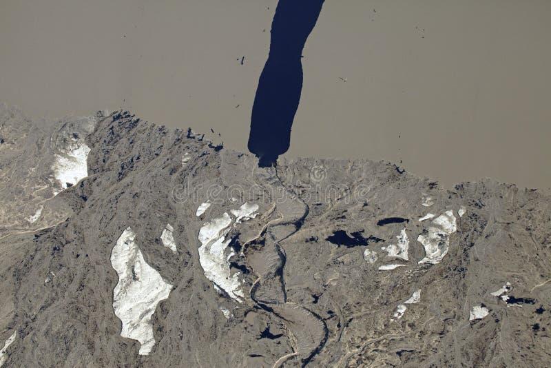 Widok z lotu ptaka nafciani piaski, Alberta, Kanada zdjęcia stock