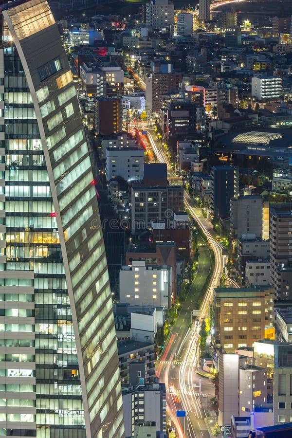 Widok z lotu ptaka Nagoya obraz stock