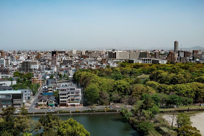 Widok z lotu ptaka Nagoya miasto, Japonia zdjęcie stock