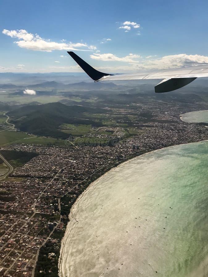 Widok z lotu ptaka Navegantes, SC Brazylia obraz stock