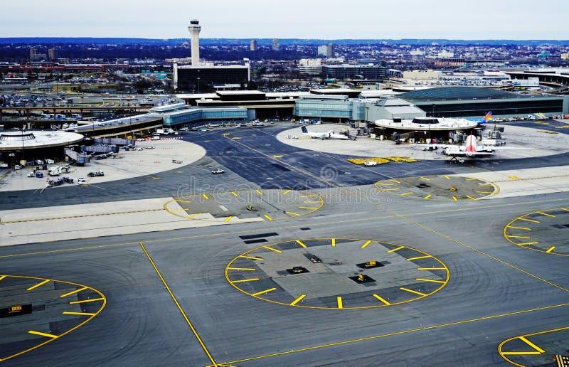 Widok z lotu ptaka Newark swobody lotnisko międzynarodowe obraz royalty free