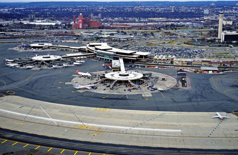 Widok z lotu ptaka Newark swobody lotnisko międzynarodowe obrazy royalty free