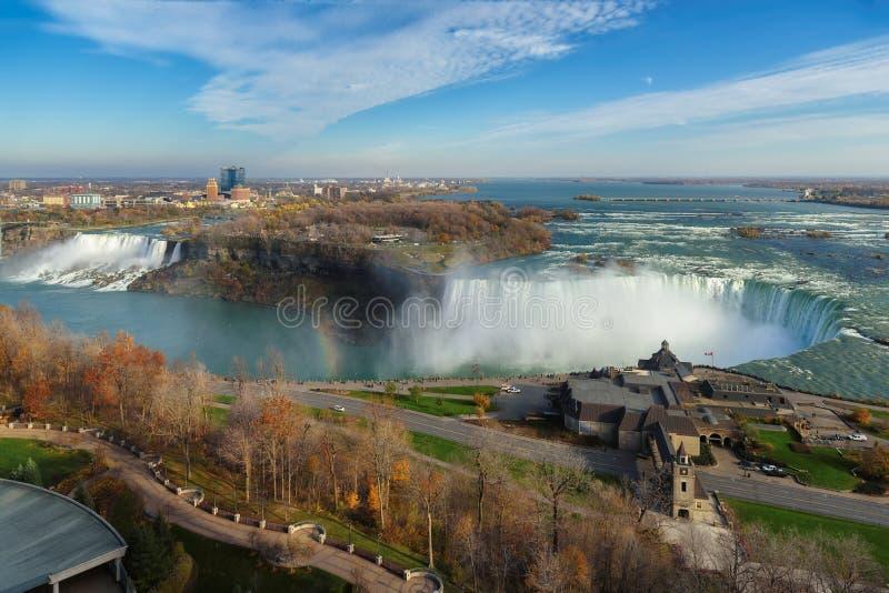 Widok z lotu ptaka Niagara spadki, Kanada obrazy royalty free