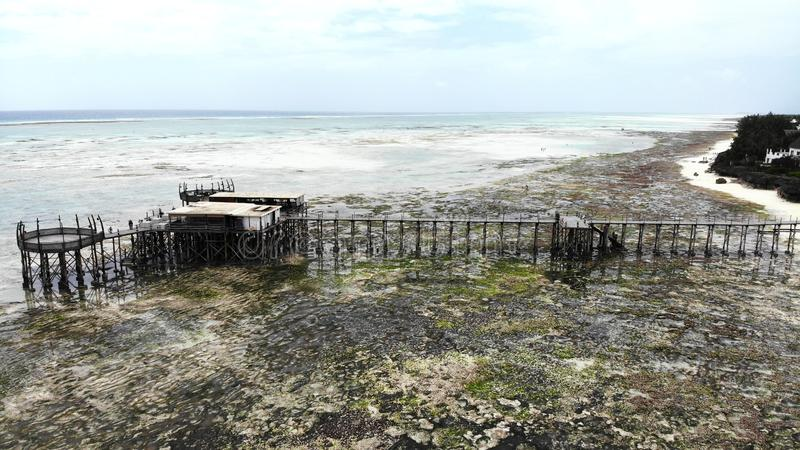 Widok z lotu ptaka, Nungwi plaża, Zanzibar obraz royalty free