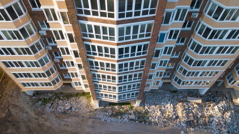 Widok z lotu ptaka okno nowy budynek mieszkalny zdjęcie royalty free