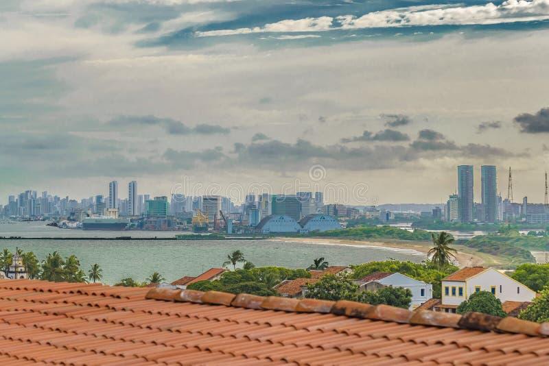 Widok Z Lotu Ptaka Olinda i Recife, Pernambuco Brazylia obrazy royalty free