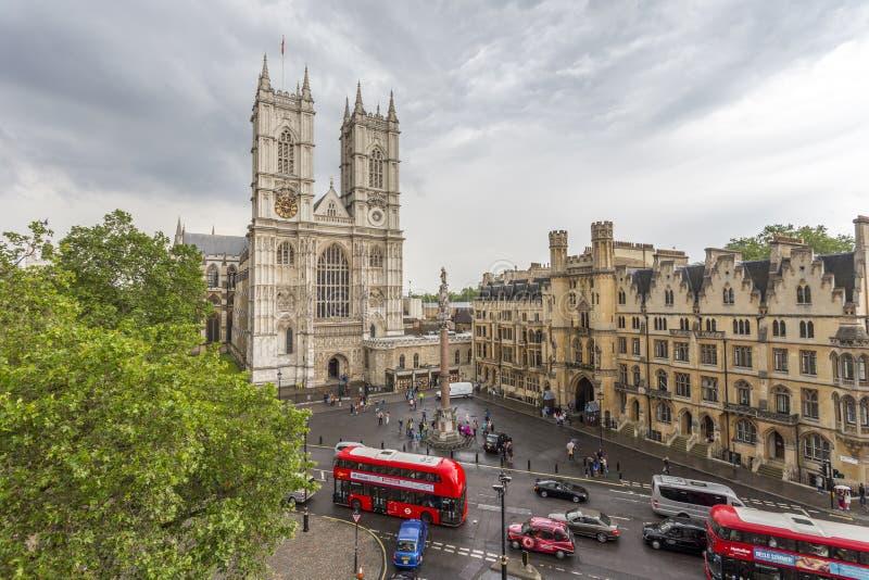 Widok z lotu ptaka opactwo abbey i Wiktoria ulica obrazy royalty free