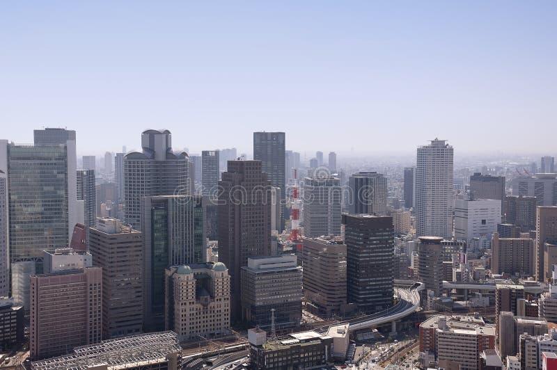 Widok z lotu ptaka Osaka Japonia zdjęcie stock