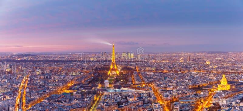 Widok z lotu ptaka Paryż z Les Invalides, Francja fotografia royalty free