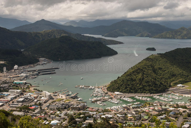 Widok z lotu ptaka Picton obraz royalty free