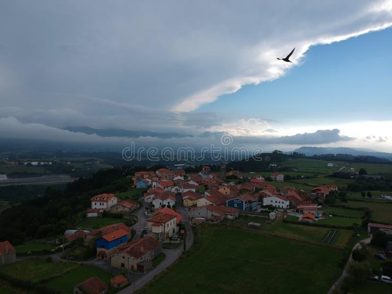 Widok z lotu ptaka Pimiango fotografia stock