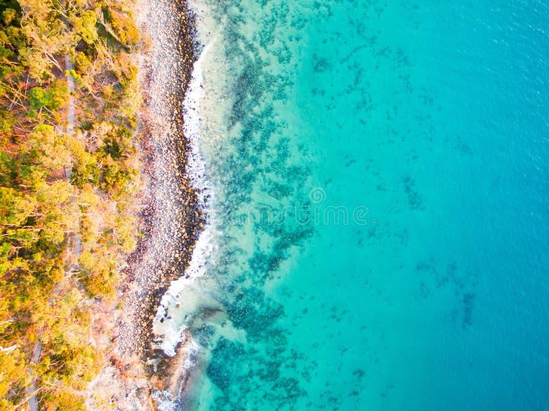 Widok z lotu ptaka plaża obraz royalty free