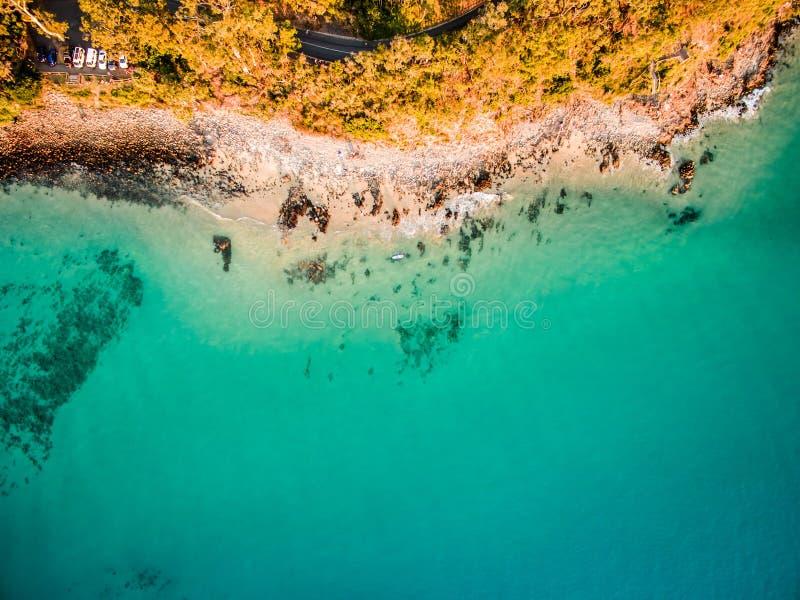 Widok z lotu ptaka plaża fotografia royalty free