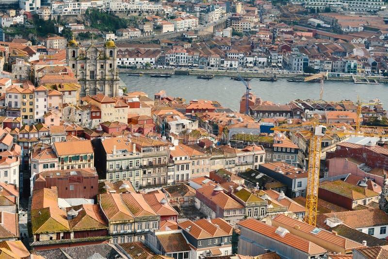 Widok z lotu ptaka Porto, Portugalia obraz royalty free