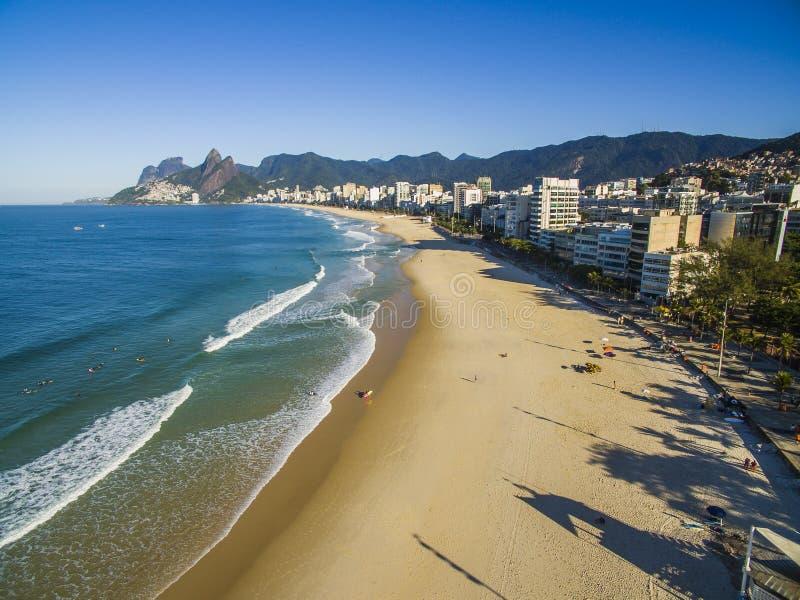 Widok z lotu ptaka przy sławnym Ameryka Południowa podróży miejsca przeznaczenia miastem Rio De Janeiro, Brazylia Odkrywa piękno  zdjęcia stock