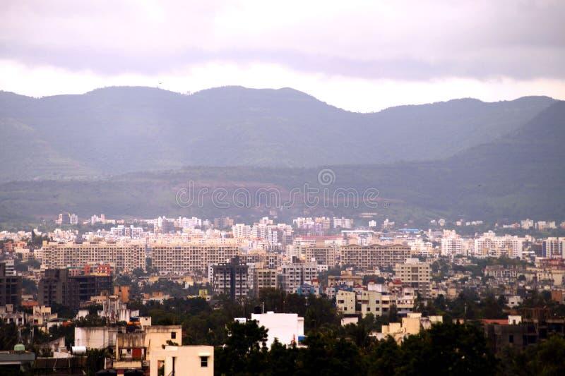 Widok z lotu ptaka Pune miasto zdjęcie stock