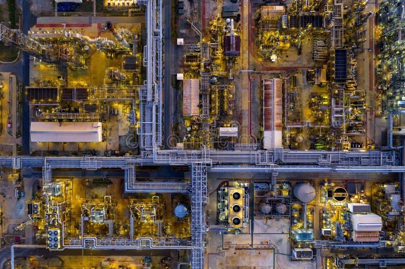 Widok z lotu ptaka rafineria ropy naftowej fotografia royalty free