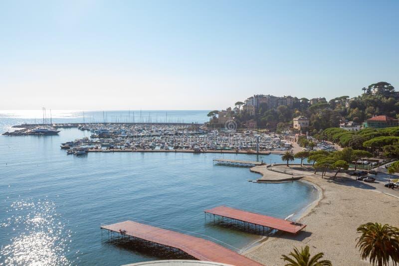Widok z lotu ptaka Rapallo w Włochy obrazy royalty free