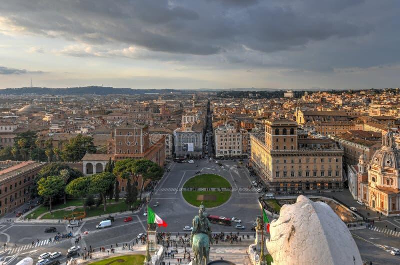 Widok Z Lotu Ptaka - Rzym, Włochy fotografia royalty free