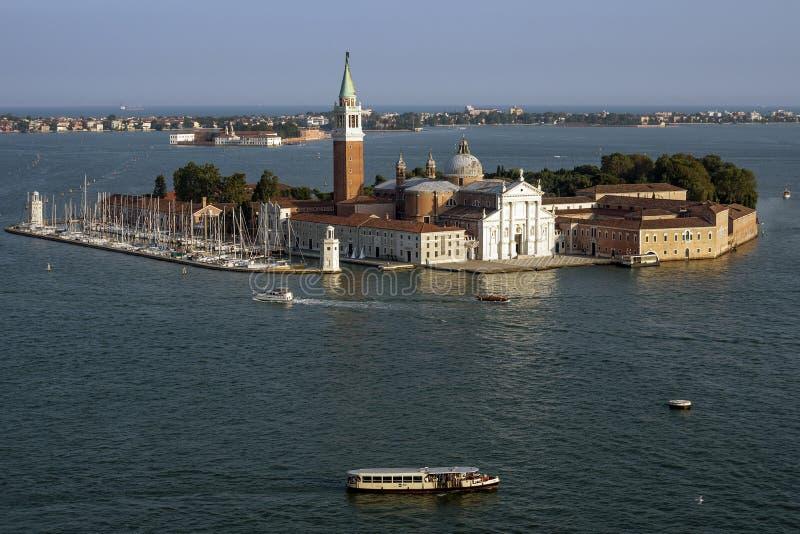 Widok z lotu ptaka San Giorgio Maggiore, Wenecja, Włochy zdjęcia royalty free