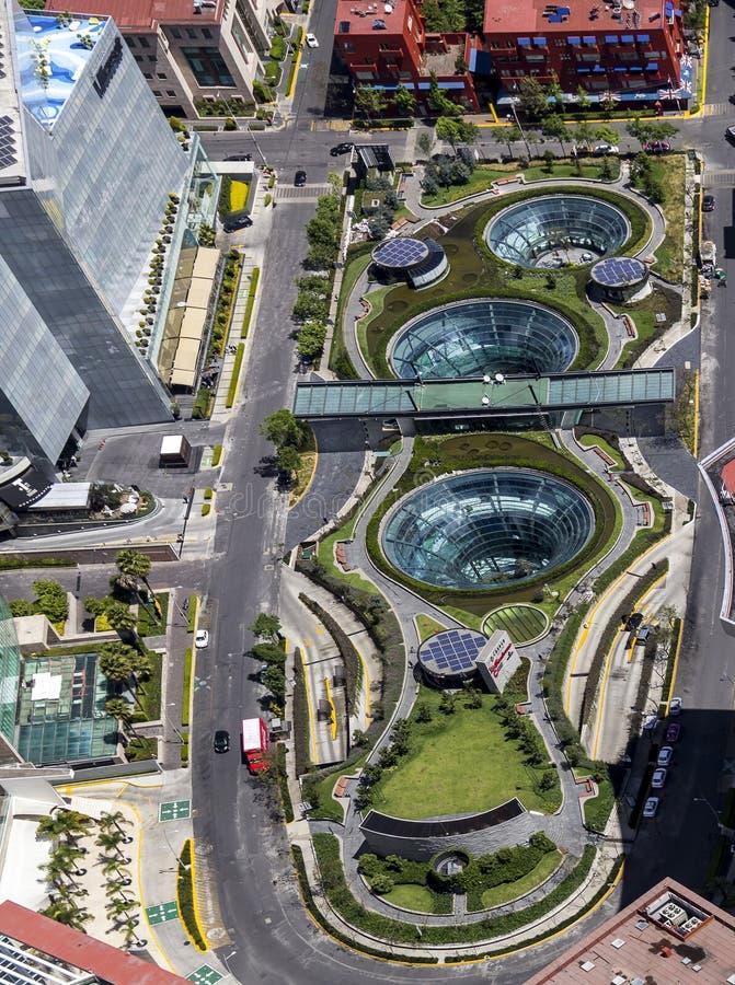 Widok z lotu ptaka Santa fe w Mexico - miasto zdjęcia stock