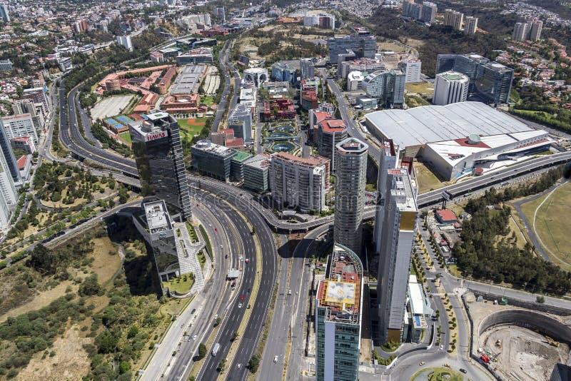 Widok z lotu ptaka Santa fe w Mexico - miasto fotografia royalty free