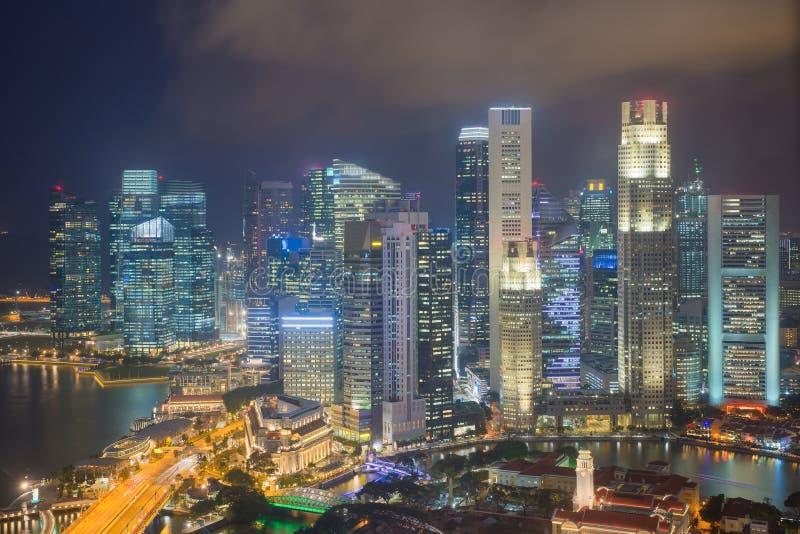 Widok z lotu ptaka Singapur zdjęcia royalty free