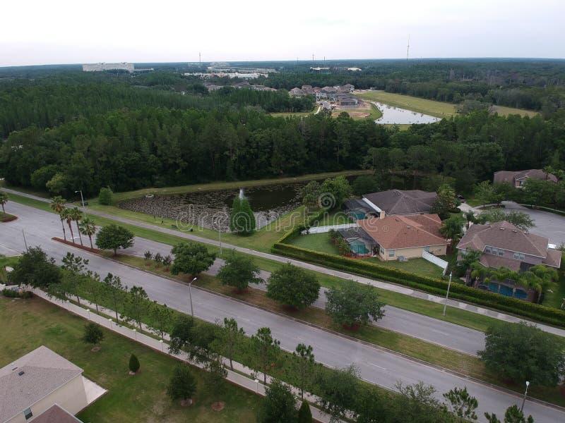 Widok z lotu ptaka społeczność w Tampa fotografia stock