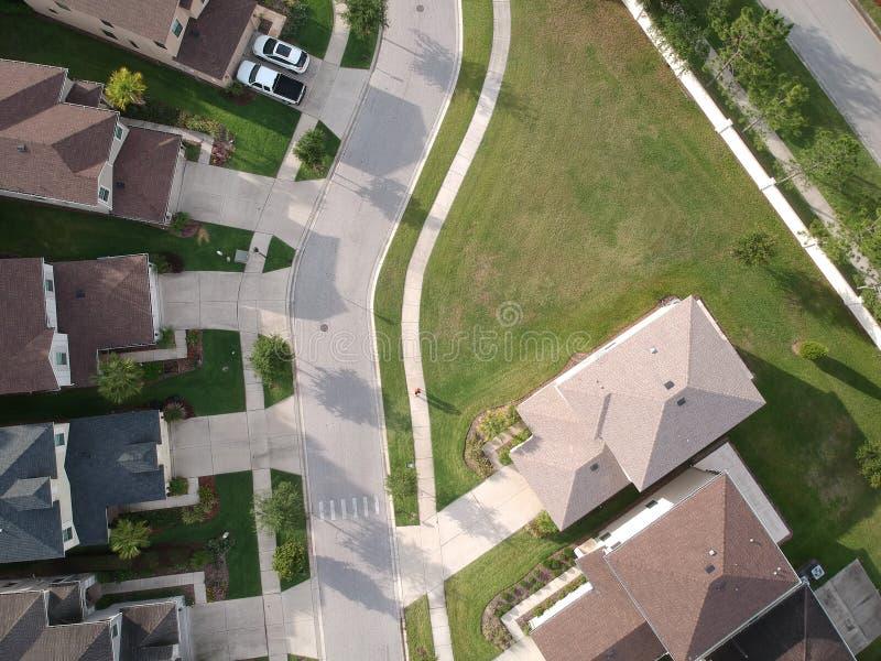 Widok z lotu ptaka społeczność w Tampa obraz royalty free
