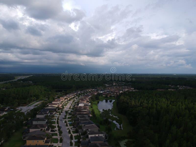 Widok z lotu ptaka społeczność w Tampa fotografia royalty free