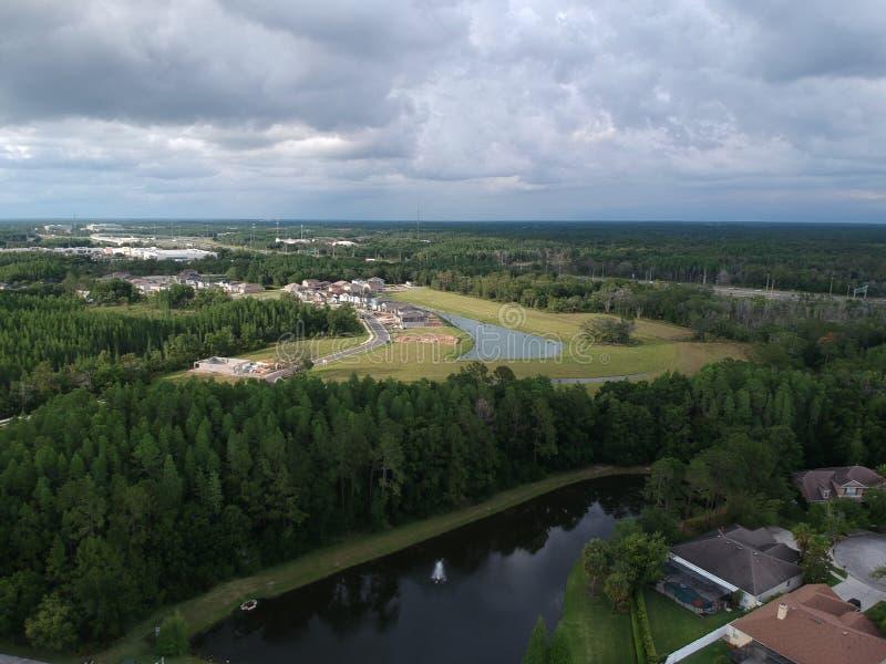 Widok z lotu ptaka społeczność w Tampa obraz stock