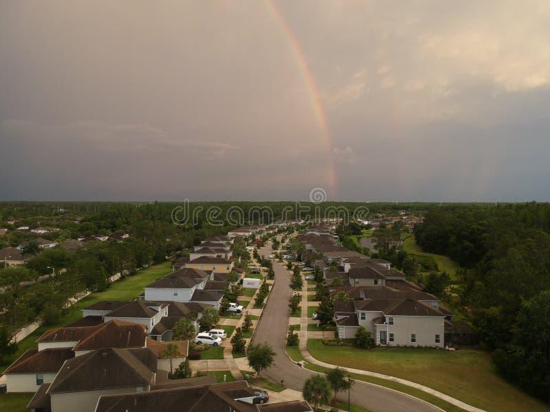 Widok z lotu ptaka społeczność w Tampa zdjęcie stock