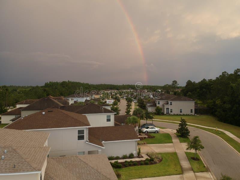 Widok z lotu ptaka społeczność w Tampa zdjęcia royalty free