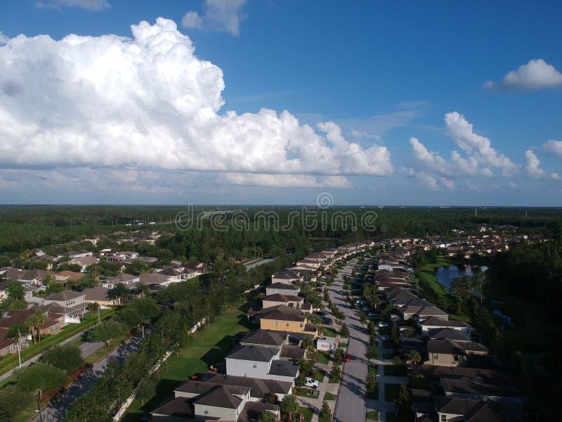 Widok z lotu ptaka społeczność w Tampa zdjęcia stock