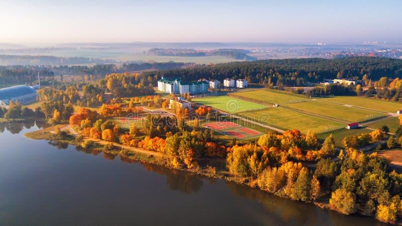Widok z lotu ptaka sporta centrum europejczyka 2019 gry w Minsk, Białoruś zdjęcia stock